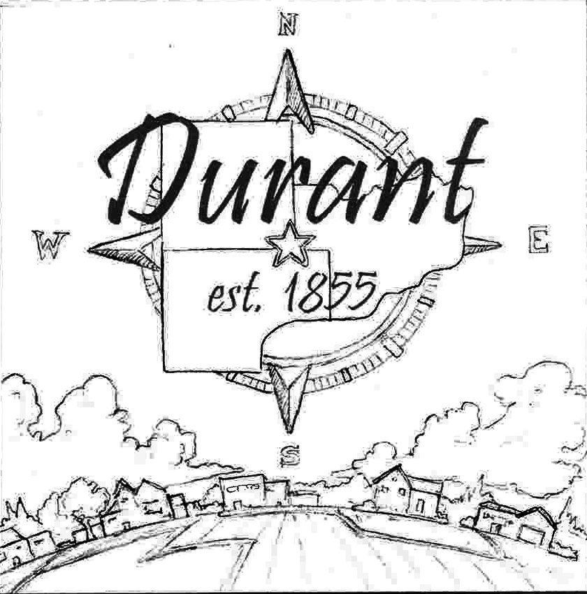 A look at one of the mural designs presented to Durant city council members at the May 24 meeting. Work on five murals, which will be hung on the north side of Jeff's Market, will begin soon.