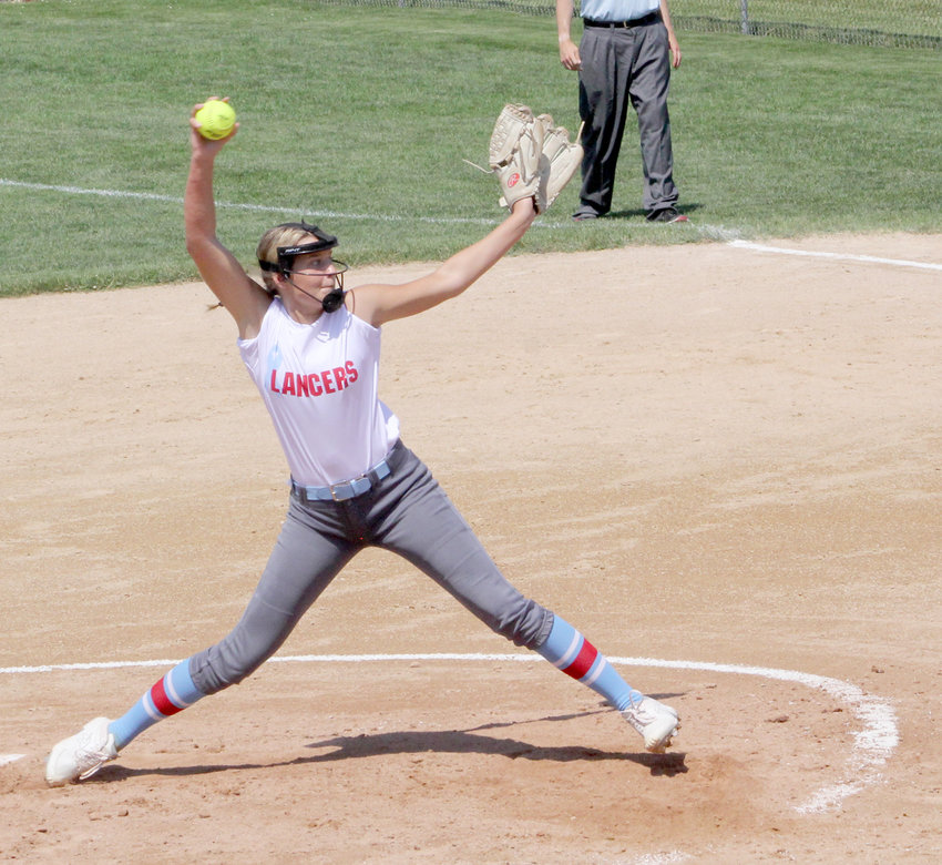 Sophomore Maddy McDermott fanned eight in Friday's 5-4 loss to North Linn.