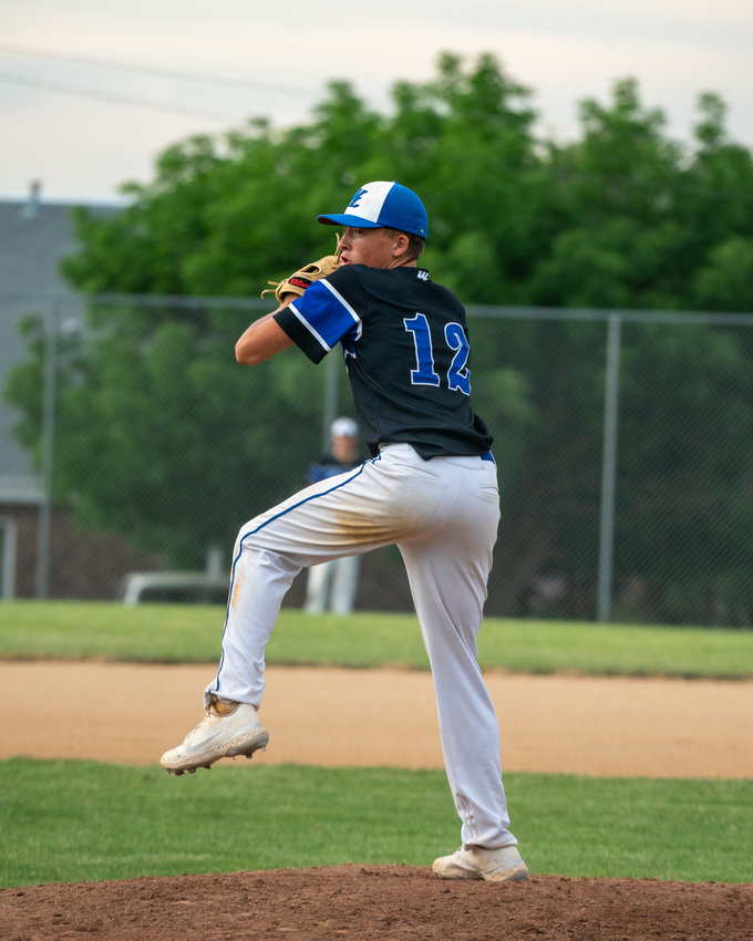 Ty Jones tosses a pitch for the Comets