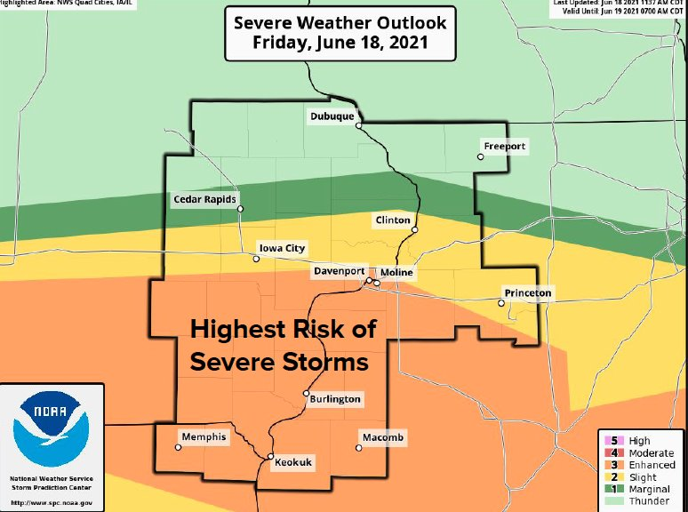 National Weather Service June 18, 2021 warning