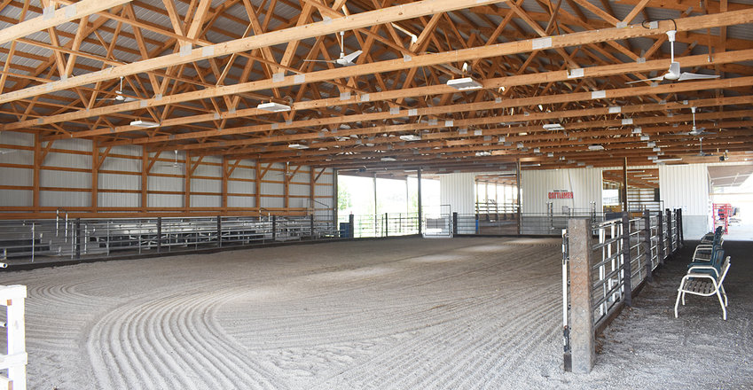 The main show ring at the Cedar County Fairgrounds is the cattle show ring, connected to the cattle barn. Both were recently renovated, with the cattle barn finishing in 2016, and the show ring in 2019. At this year's fair, most of the livestock shows will be featured in the cattle show ring.