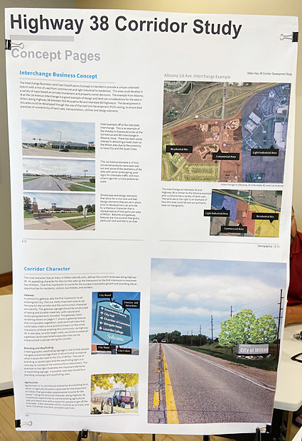 Several different maps and concepts were on display at a public meeting hosted June 14 at Wilton City Hall regarding a Highway 38 Corridor Study. The city, working with the Wilton Economic Development Corporation and MSA Professional Services, has been looking for feedback when considering expansion opportunities on Highway 38 from Wilton north to Interstate 80.