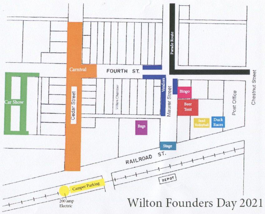 2021 Wilton Founders Day map