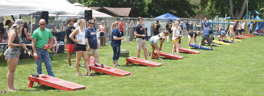 More than 80 teams participated in the first bags tournament in memory of Chantz Stevens at Wilton's City Park July 17.