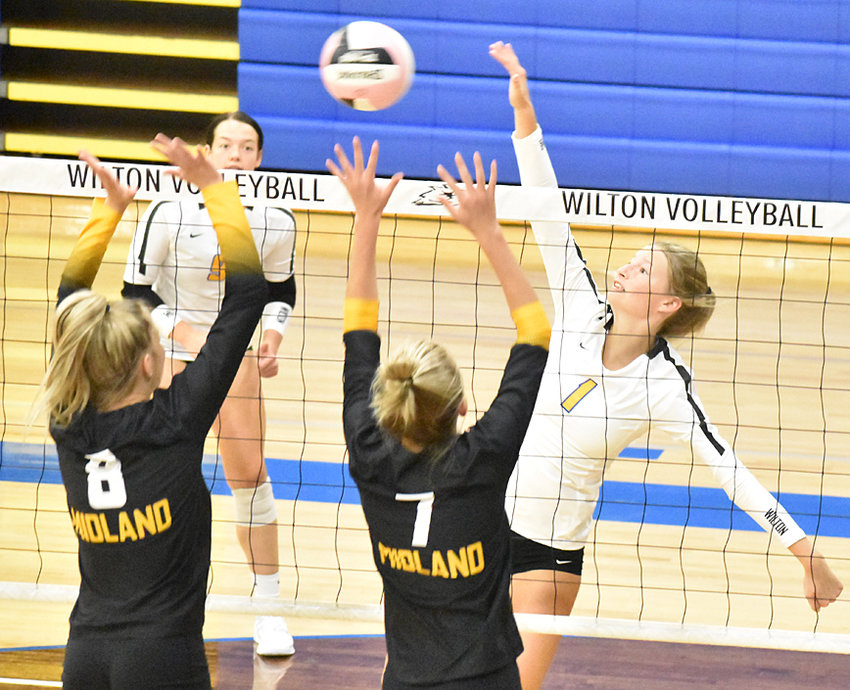 Wilton senior Kelsey Drake hit career kill No. 1,000 in opening round action at the Wilton volleyball tournament Sept. 11. The Beavers went 5-0 on the day and claimed the tournament title.