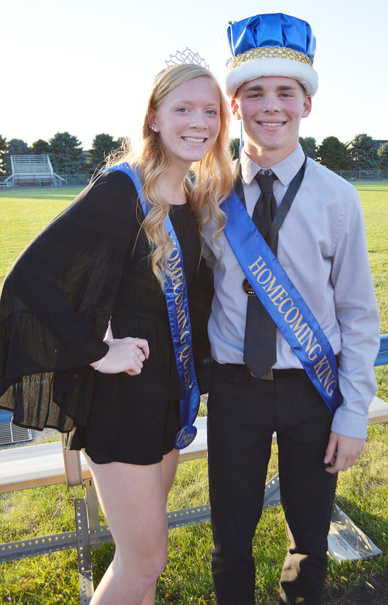 Durant royalty—At the Durant homecoming pep rally Sept. 8, seniors Ethan Gast and Shannon Head were named 2021 Durant homecoming king and queen.