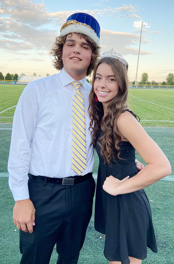 Wilton royalty—At the Wilton homecoming pep rally Sept. 8, seniors Lucas DuRocher and Mallory Lange were named 2021 Wilton homecoming king and queen.