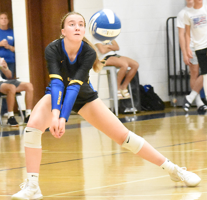 Isabelle DeLong looks to make a dig for the Wildcats.