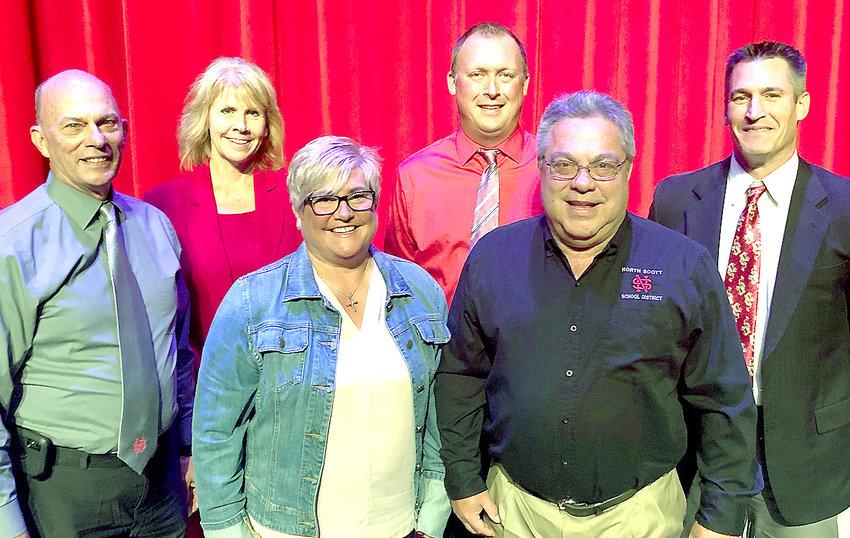 From left: Frank Wood, Tracy Lindaman, Stephanie Eckhardt, Mark Pratt, Donn Wilmott and Nick Hansel.