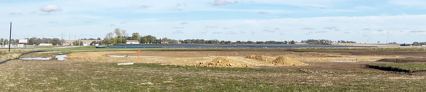 Land is currently being cleared and re-shaped at a site on the north side of Wate Street in Wilton near Highway 38. The area is part of a water quality project that will collect runoff water. Wilton Mayor Bob Barrett and council members voiced their displeasure Oct. 25, saying the site takes away too much space from future development.