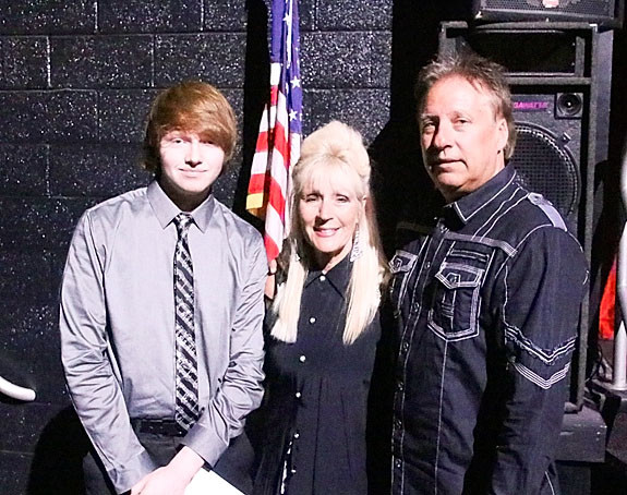 Kevin and Gigi Bohach presented the $500 Mac Stixx Music Scholarship to Blain Judkins.
