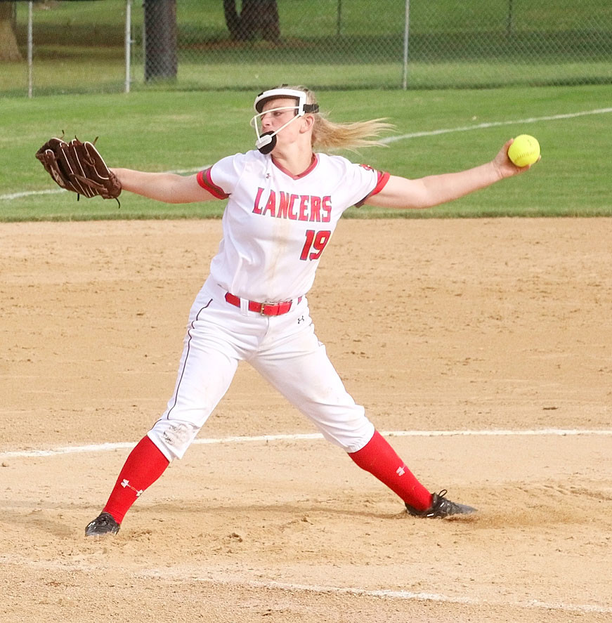 Lancer freshman Ryann Cheek notched her seventh win of the season with a 5-0 victory over Davenport North Monday night.