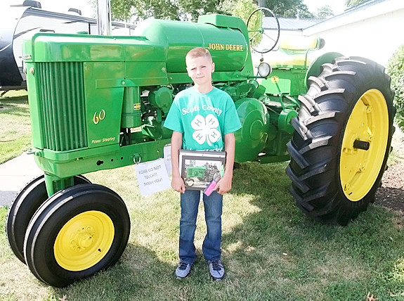 Drake Matje will be displaying his John Deere tractor at the State Fair.