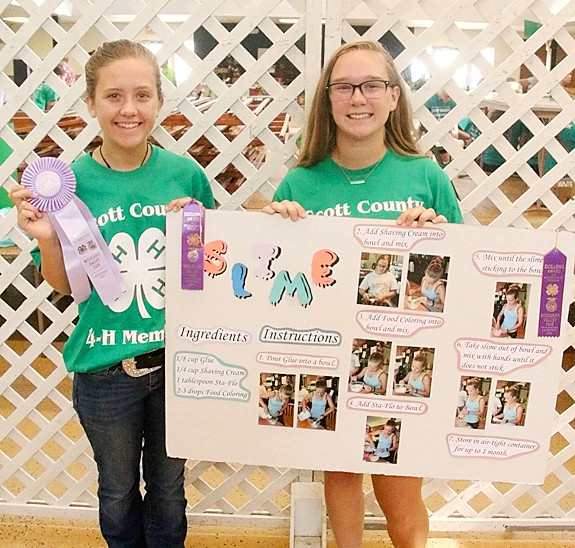 Kyrnan Liske-Rochholz and Abigail Rhoades will be showing their projects at the State Fair.