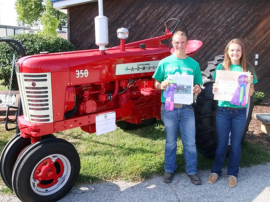 Andrew Van Nice will be taking his Farmall tractor to the State Fair, and Chloe Engelbrecht will be taking her Leadership project.