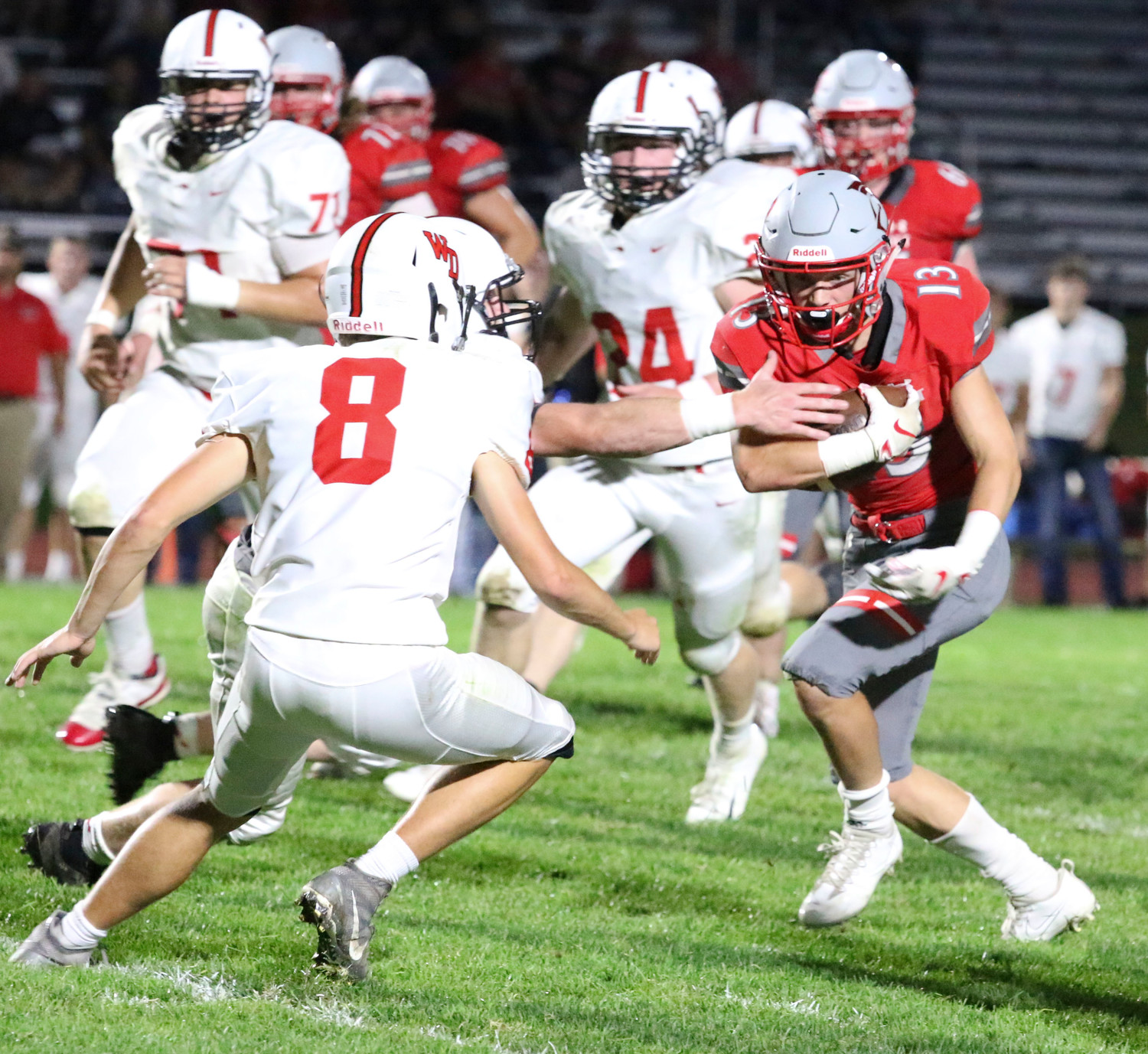 Jacob Porth finds a hole in the Western Dubuque defense.