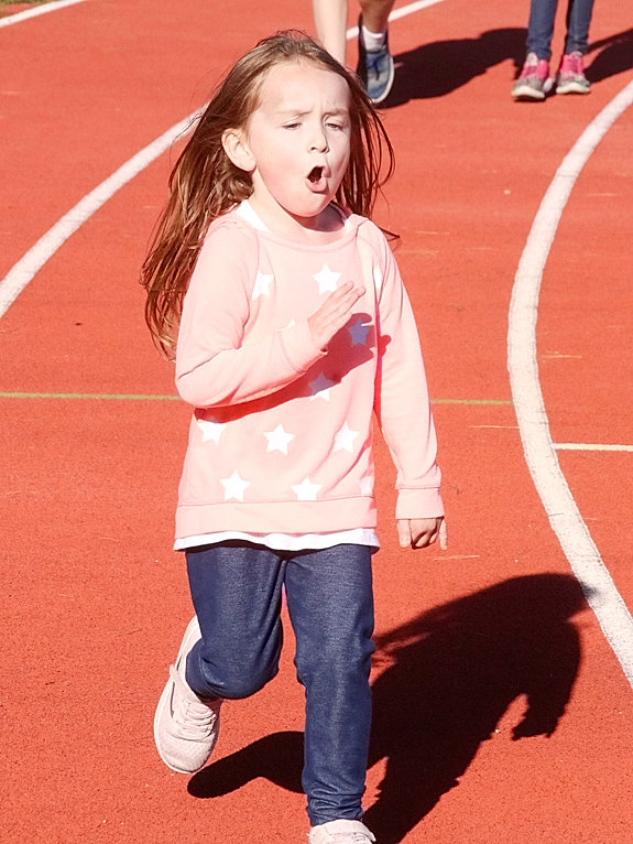 It was a beautiful day for a Walkathon on Thursday, Sept. 28, as Neil Armstrong Elementary students took to the track at Lancer Stadium as part of a PTO fundraiser.