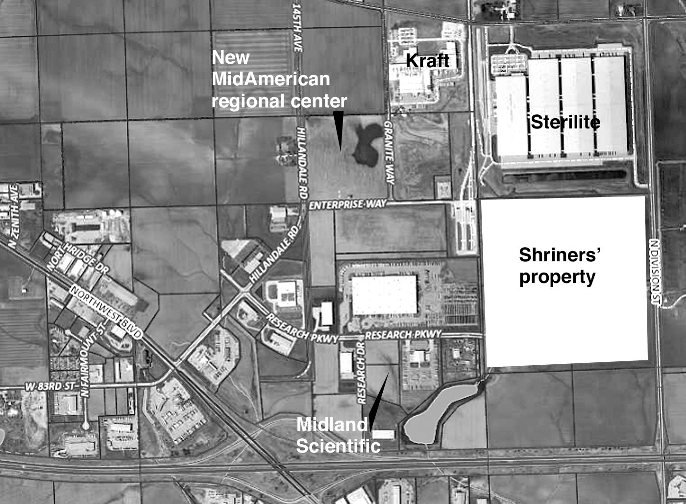 The Eastern Iowa Industrial Center now owns the Shriners' property, and welcomed Midland Scientific.