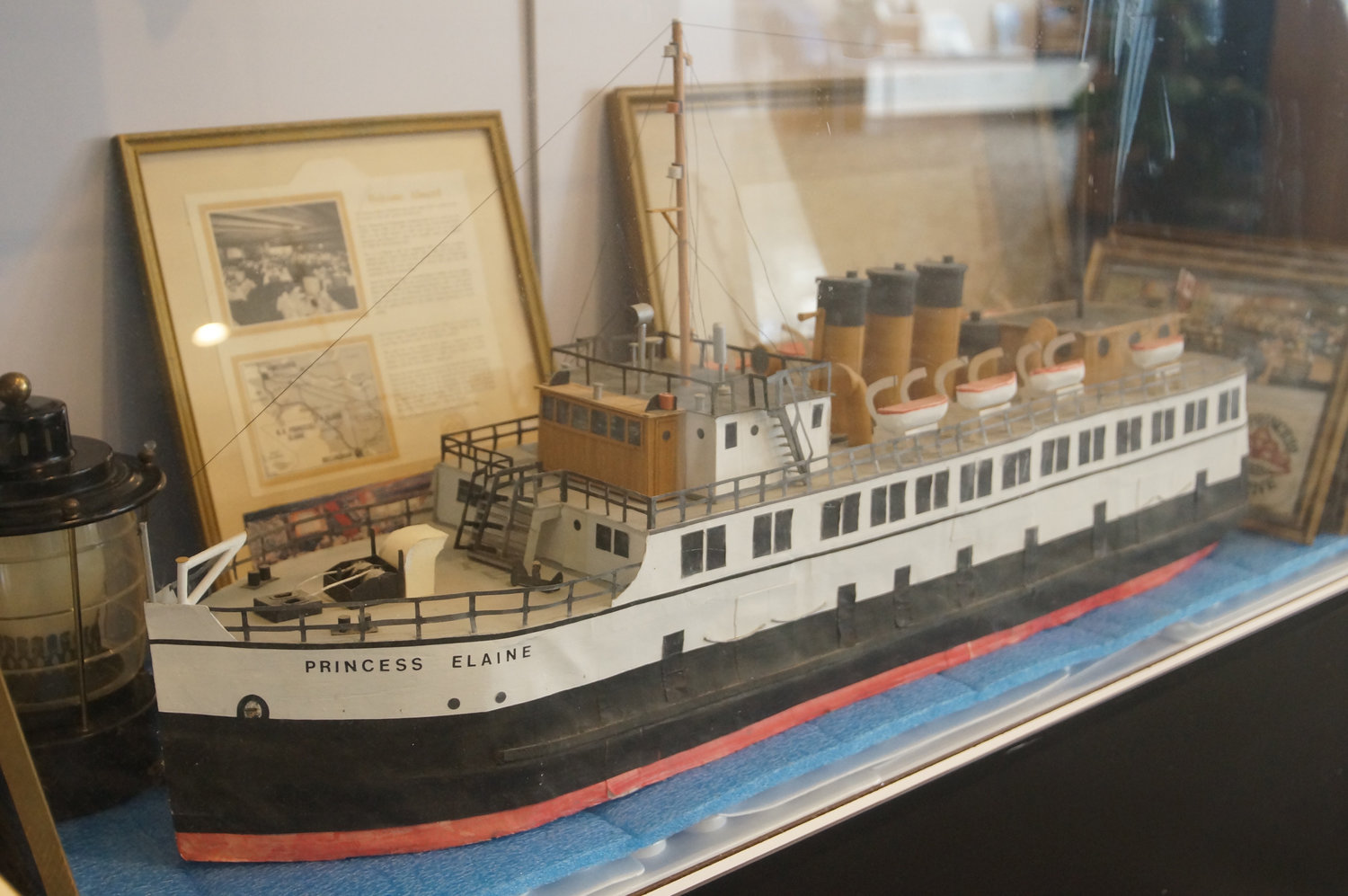 Dodd's model of Princess Elaine, a ferry boat that became a floating restaurant in Blaine in the 1960s.