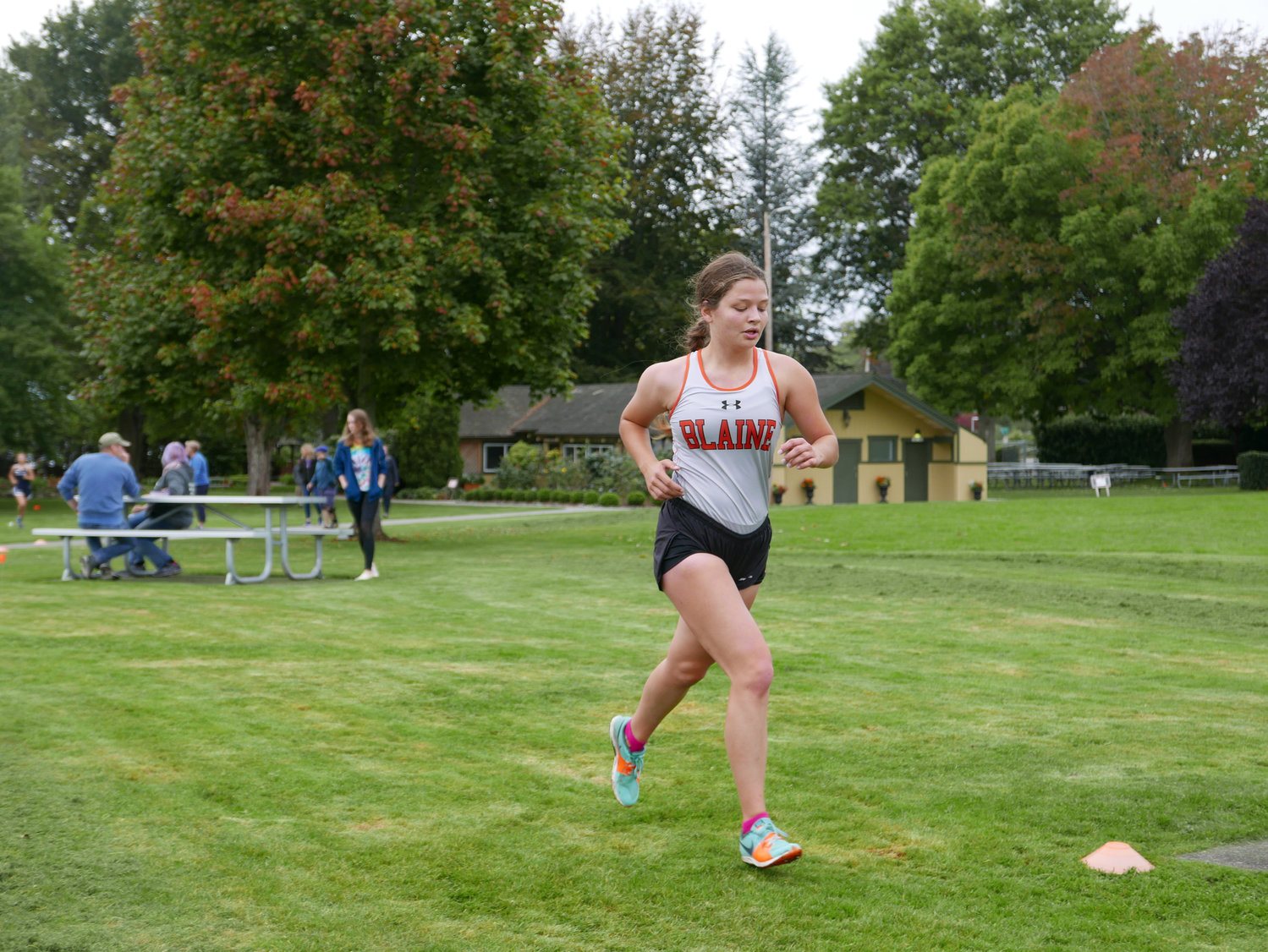 Blaine senior Taylee McCormick on September 25 at Peace Arch Park. McCormick is going to the state cross country meet on November 9.