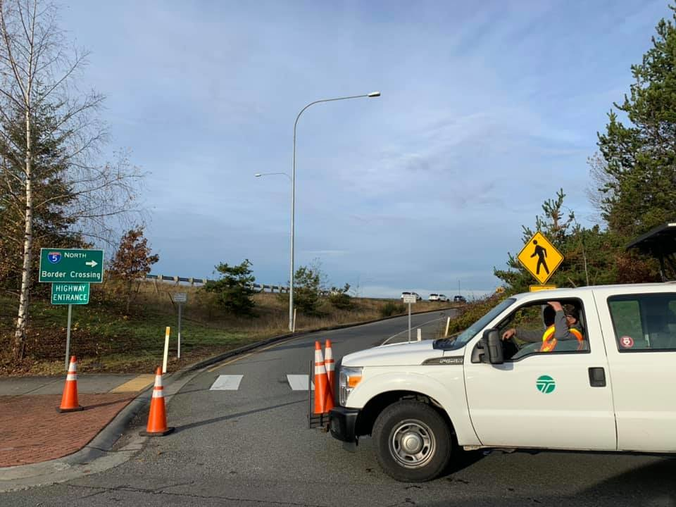 The D Street on-ramp to the Peace Arch border crossing was temporarily closed after a fatal single-vehicle collision occurred on November 14.