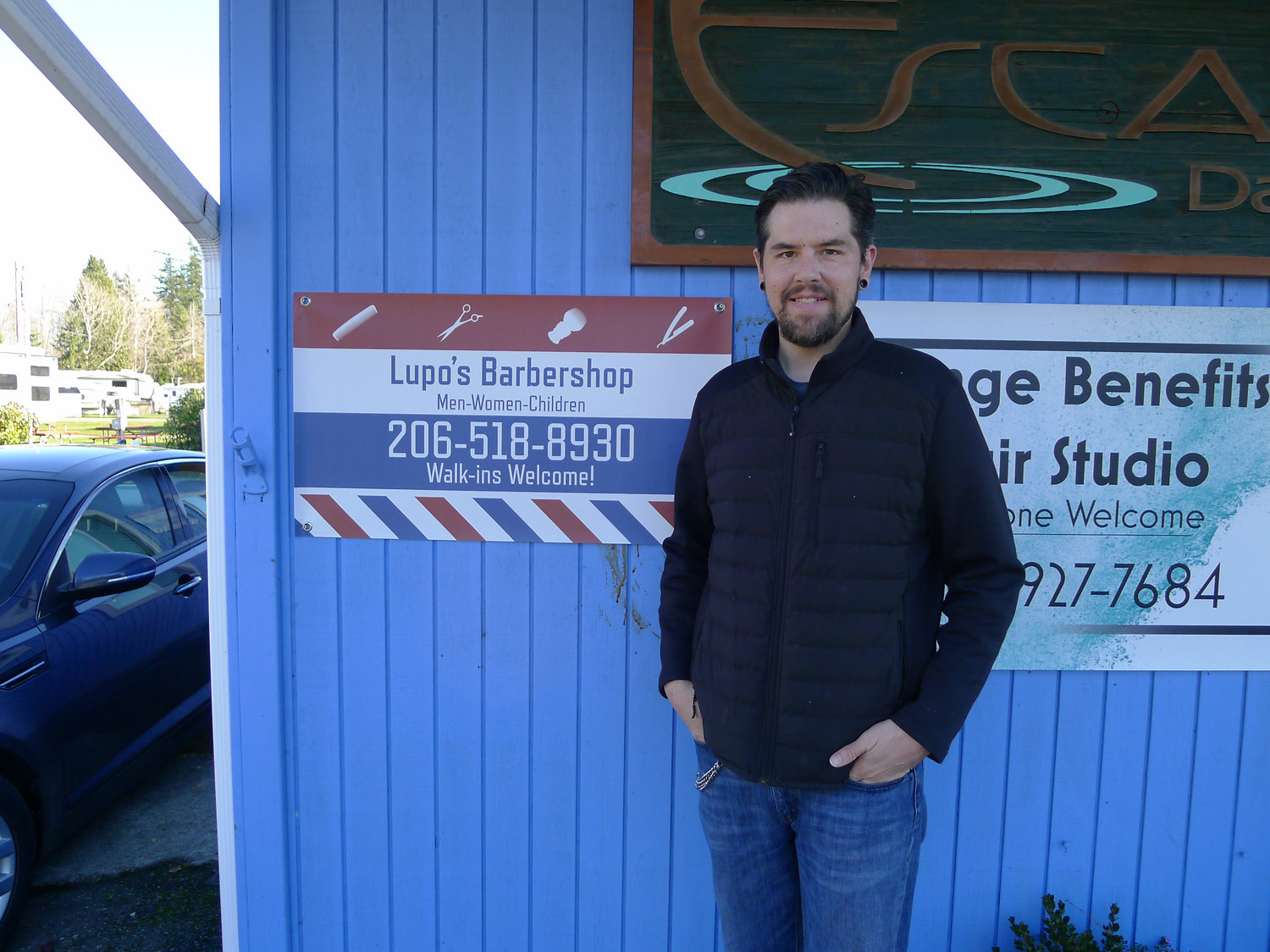 Mario Lupo, a barber who recently moved to Birch Bay.