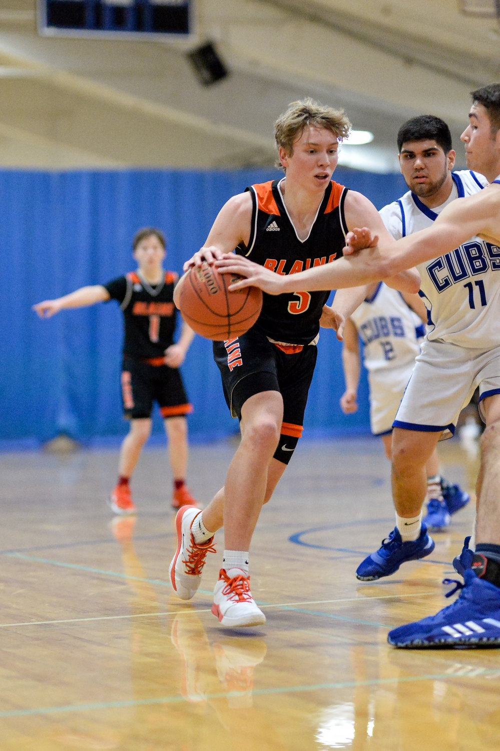 Zane Rector led Blaine's offense with 25 points against Sedro-Woolley on January 21.