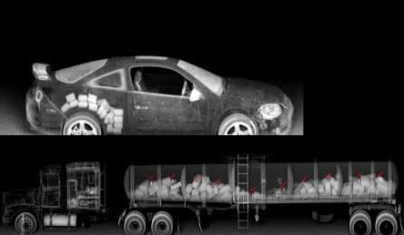 Two examples of how vehicle imaging can detect contraband.