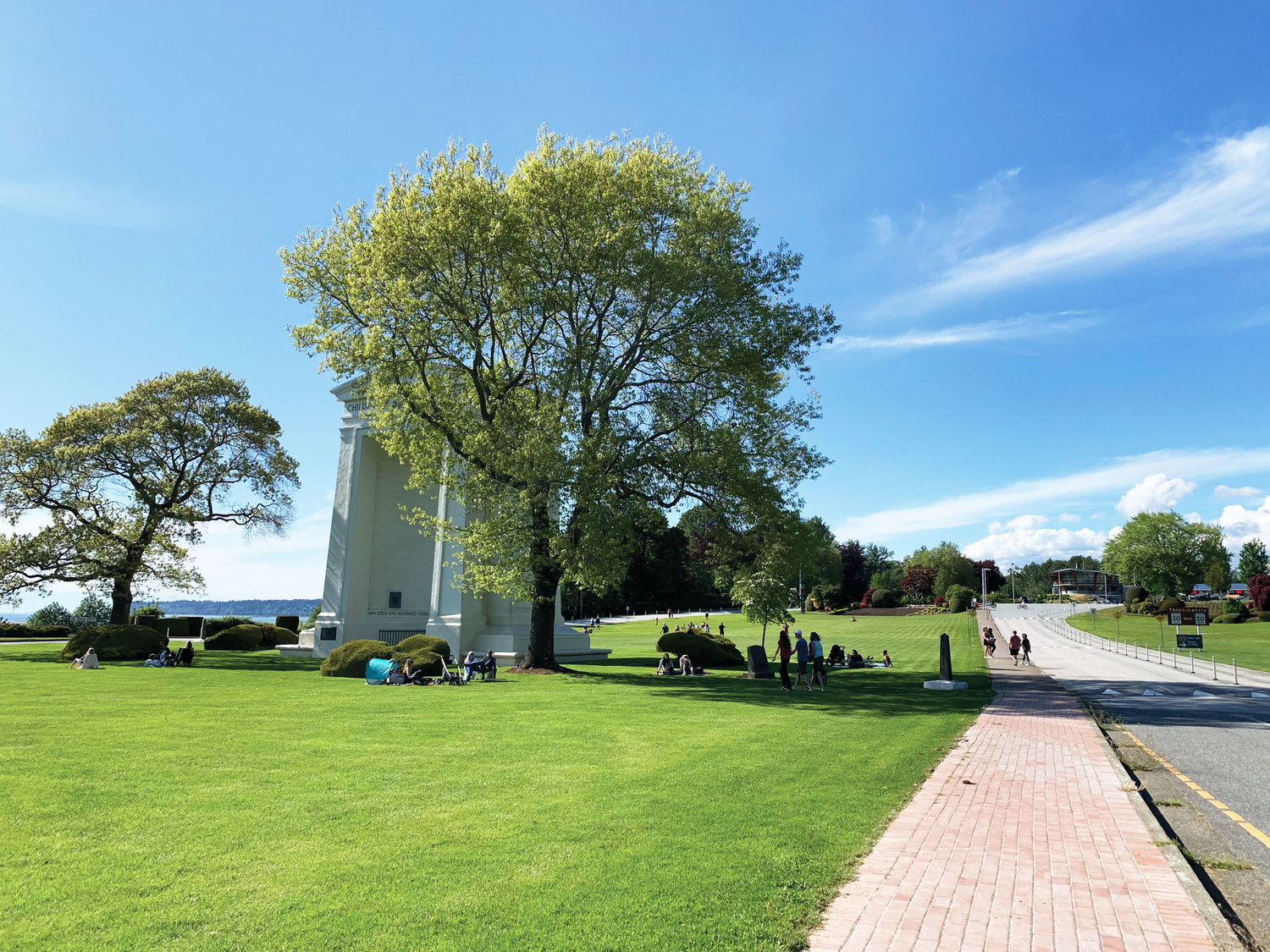Families and friends from both sides of the US/Canada border have started gathering together at Peace Arch park since it opened on May 14 after being closed due to Covid-19.
