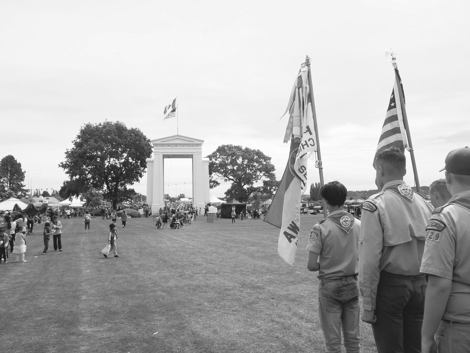 Scouts at Hands Across the Border on June 9, 2019.