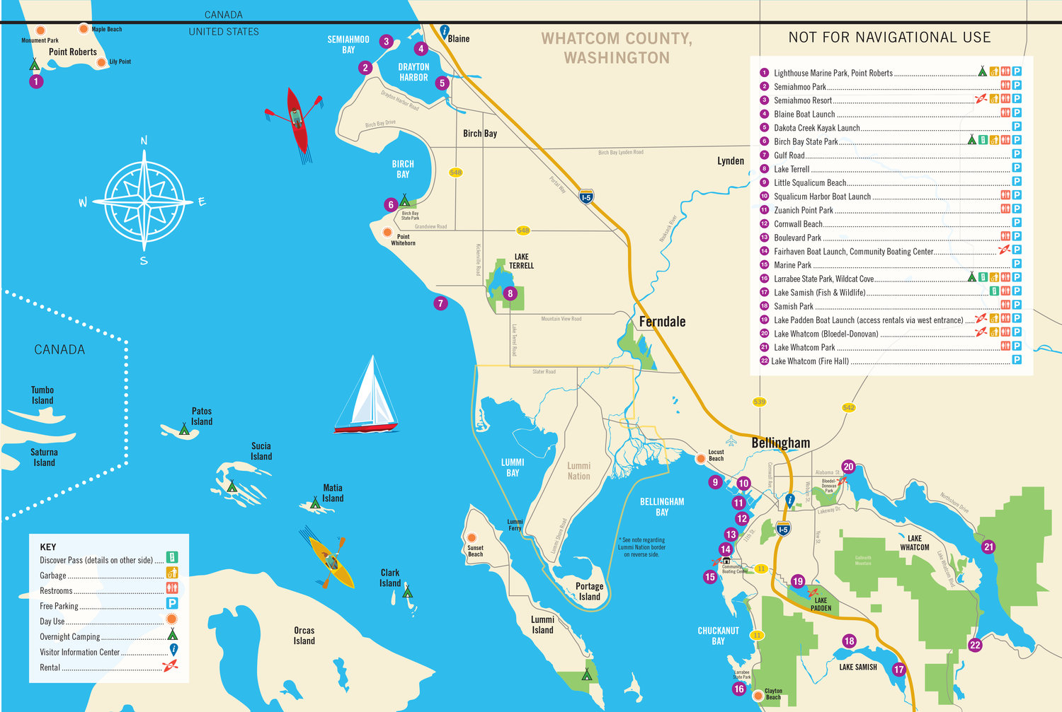 The Whatcom Water Trail map. Click to enlarge.