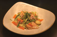 Chef Devin Kellogg's smoked trout salad with orange fennel, asparagus, fingerling potatoes and tarragon vinaigrette.