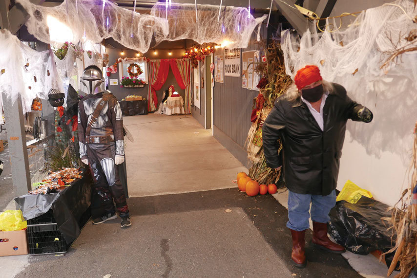 The Blaine Food Bank hosted socially-distant trick-or-treating for kids on Halloween.
