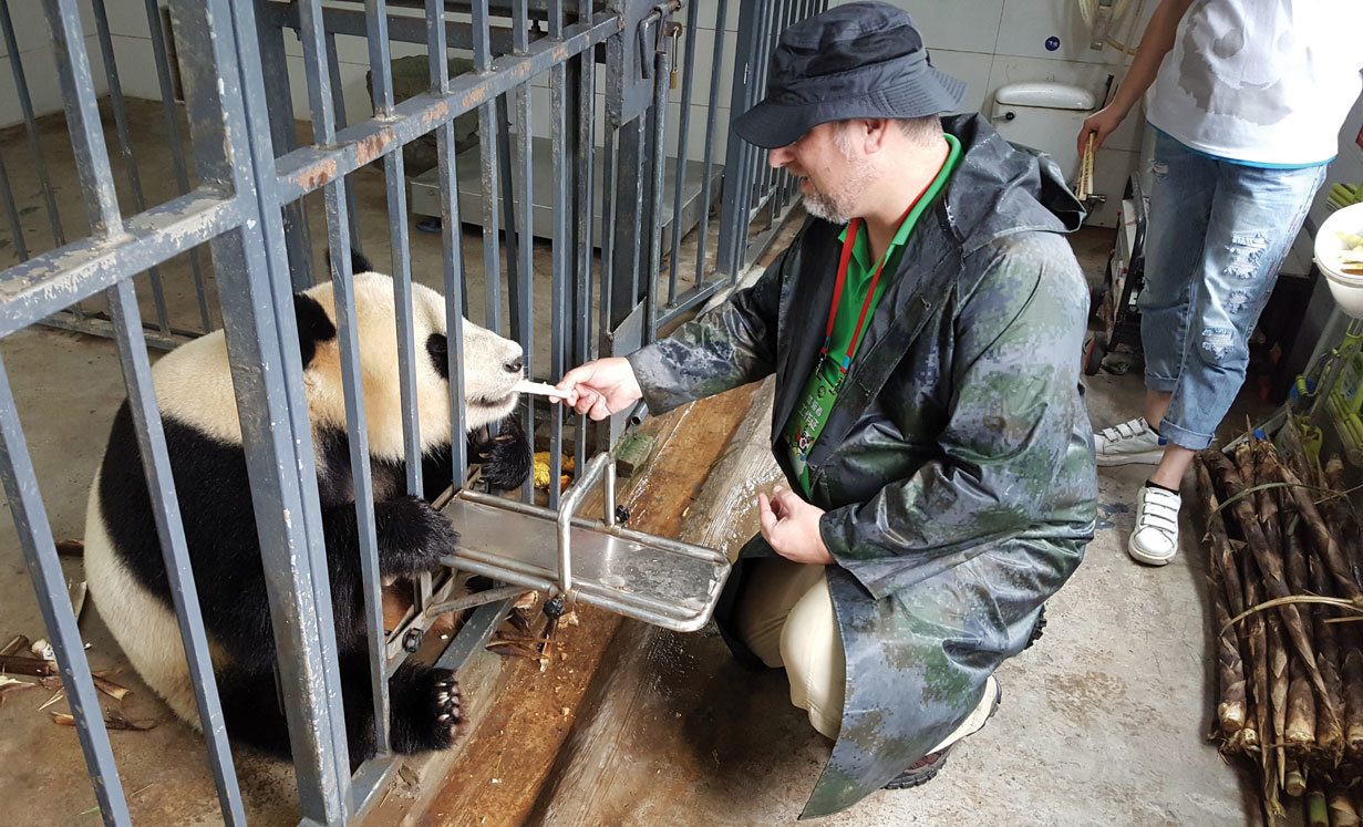 Rick Wood helped with the conservation of pandas during his trip to China in September 2017. This was the second stop on his four-country trip to answer questions about animal trade.