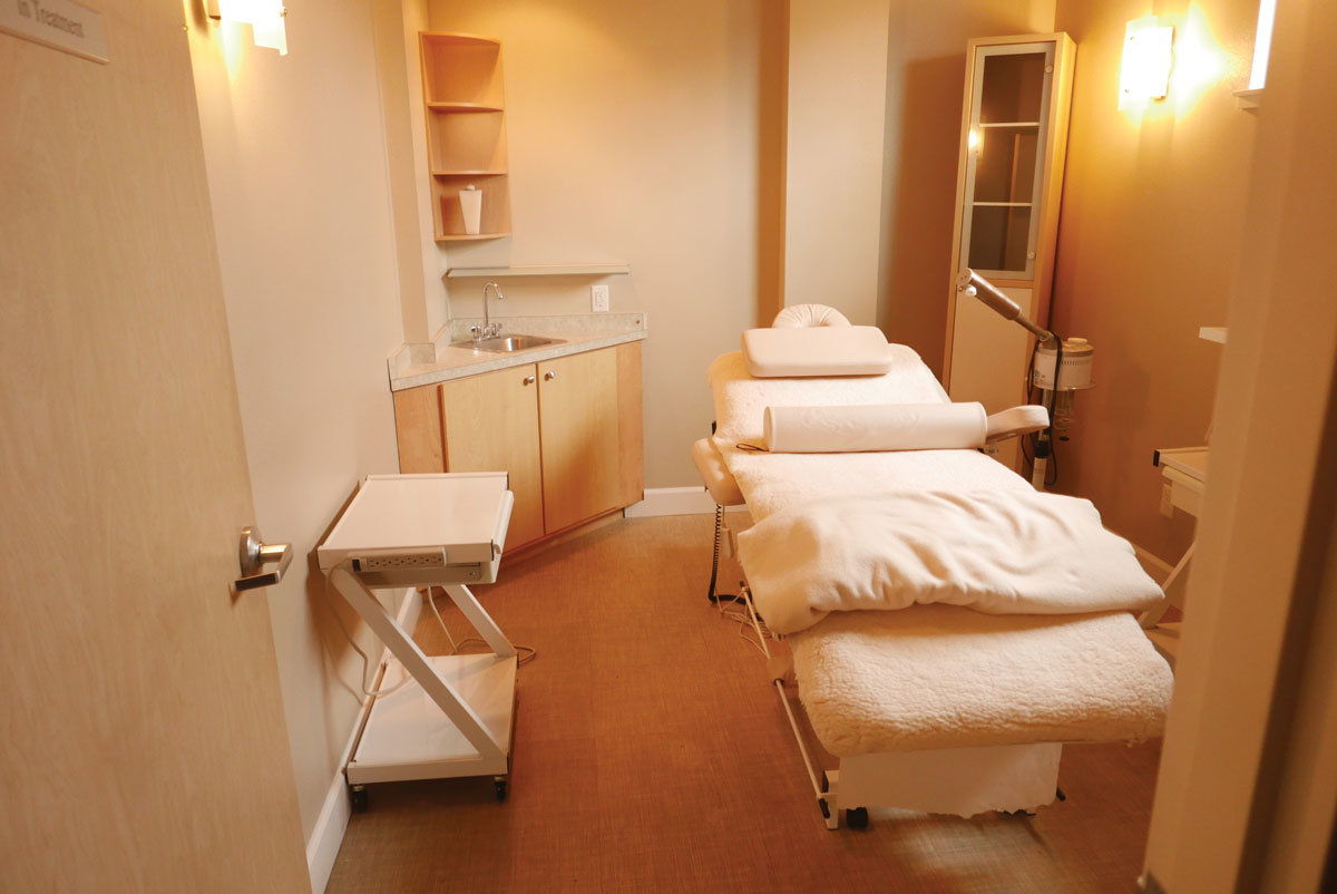 One of seven treatment rooms at M.D. Spa and Wellness Center, inside the Sandcastle Resort at 7854 Birch Bay Drive.