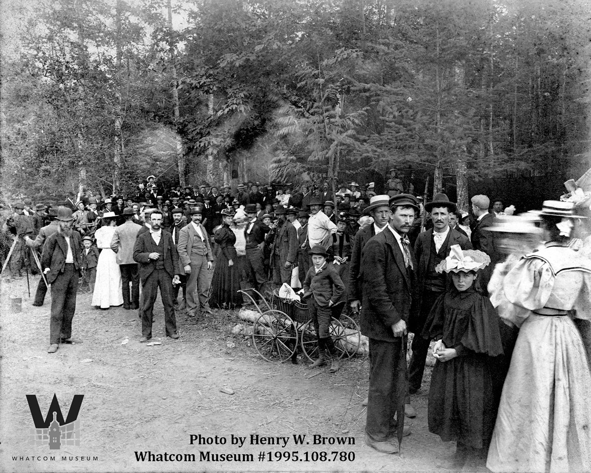 First Old Settlers picnic, held at Birch Bay, in 1896.
