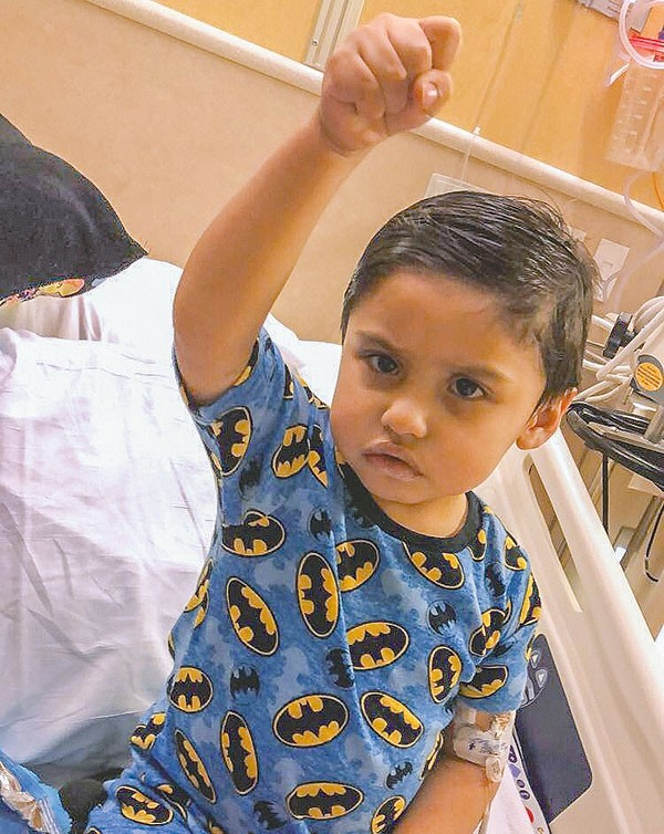 Noel Rivera, 2, was diagnosed with severe aplastic anemia. He will undergo a bone marrow transplant, and his dad, Alan, will be his donor.