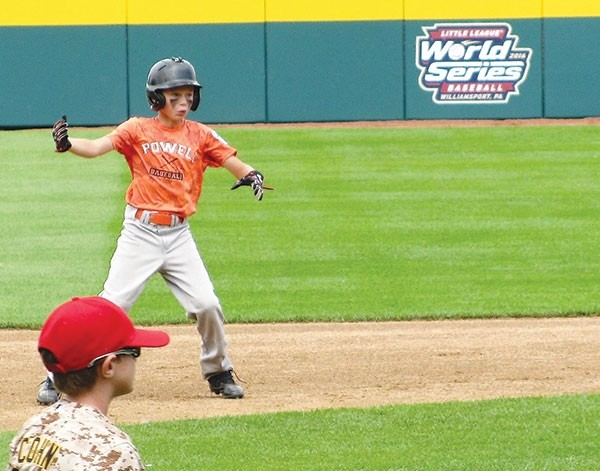 Rayce Degraffenreid plays on Lamade Field — the same field on which the Little League World Series is held — during a July camp in Williamsport, Pennsylvania.