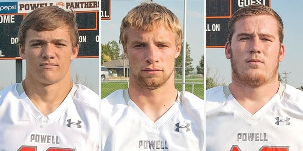 From left: Mason Olsen, TJ Abraham and Zach Easum