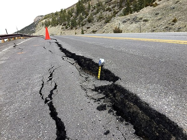 This week, WYDOT maintenance employees are attempting to patch a moisture-related slide on Chief Joseph Scenic Highway (Wyo. Highway 296) at milepost 26.1 near Dead Indian Creek.