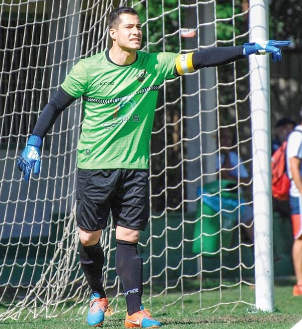 Goalkeeper Arthur Lopes of Brazil will mind the net for the Northwest College men's soccer team this fall. Lopes and Gabriel Alves signed letters of intent last month to join the Trappers.