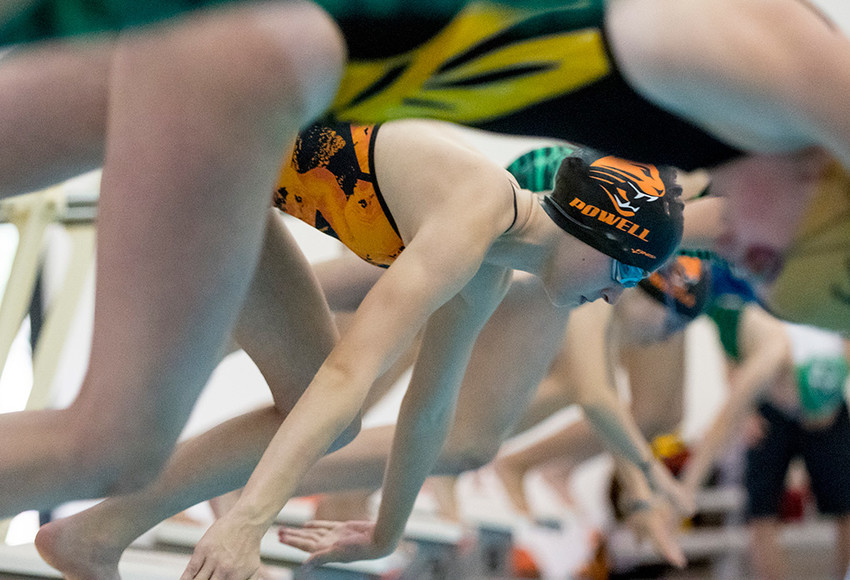 Addison Moretti finished in third place in the 500 free with a time of 6.08:47 — just 0.02 seconds behind Marissa Rosenbaum of Cody — at Saturday's Gene Dozah Invitational at the Powell Aquatic Center. Moretti qualified for the state meet in three events.