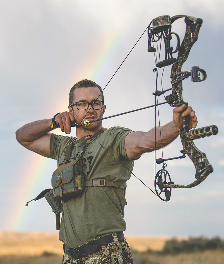 Powell outdoorsman Garrett Burbank, who posed for a photo last summer, created a reality TV show called Life Link that's based around survival hunting. Burbank had to step in as the host of the pilot episode, which will be screened in Cody next week.