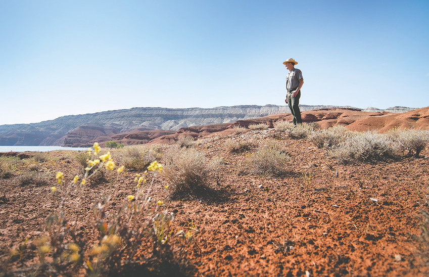 Mike Tranel — the new leader of Bighorn Canyon National Recreation Area and other National Park Service properties in the region — looks over Horsehoe Bend at Bighorn Canyon during a short hike in the area. Tranel formerly worked for 25 years in Alaska.