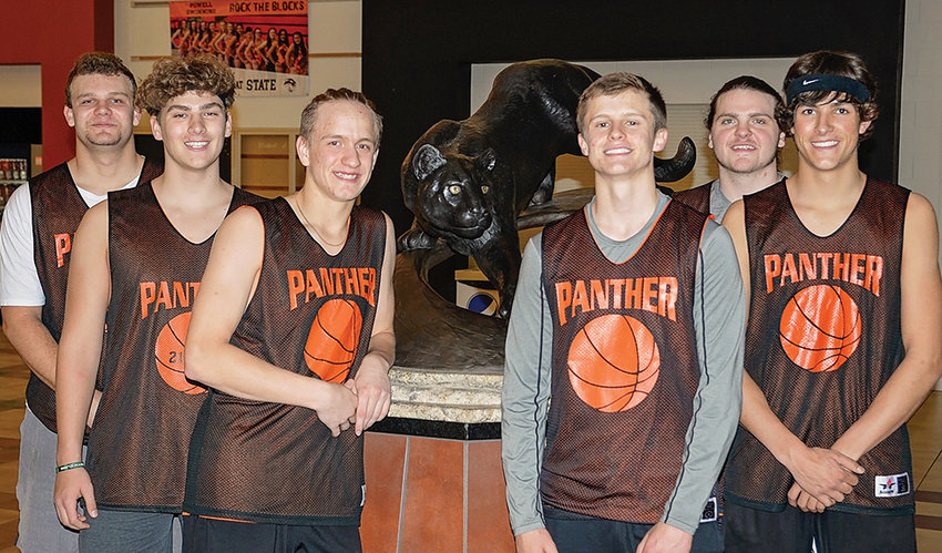 After winning just six games last season, the Powell Panthers boys' basketball team is focused on having a strong season this winter. Pictured from left are seniors Carson Heinen, Carter Olsen, William Preator, Kaelan Groves, Dalton Woodward and Kain Baxter. The Panthers open the season Friday afternoon at the East-West Classic in Buffalo against Pinedale, then take on Rawlins Saturday morning at the East-West Classic before facing off with host Buffalo Saturday night.