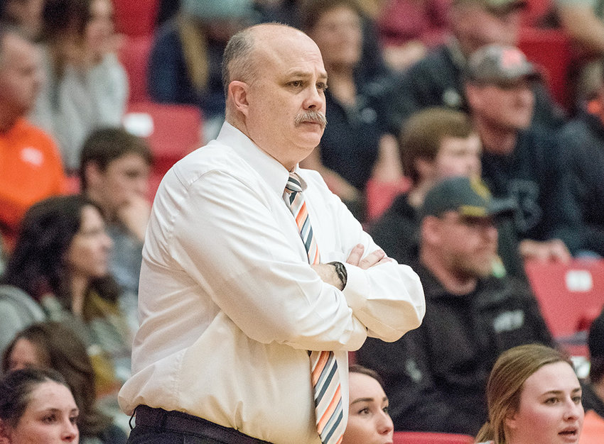 Longtime PHS girls' basketball coach Scott McKenzie, pictured at last weekend's 3A State Basketball Tournament in Casper, is stepping down from coaching after 30 years. He will become the new activities director at PHS later this year.