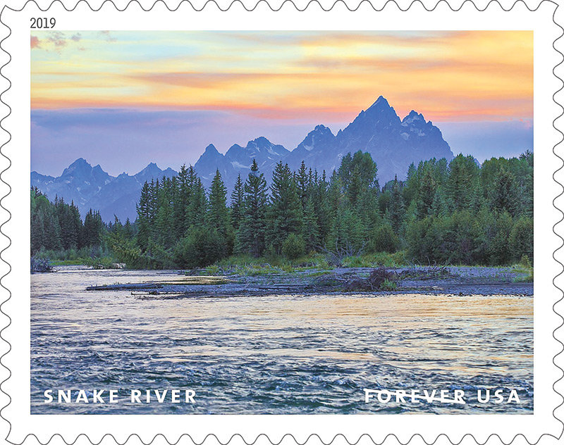 A new series of stamps featuring some of America's 'Wild and Scenic Rivers' includes this image of the Snake River as it passes near the Tetons in Wyoming. Naturalist Tim Palmer captured the shot.