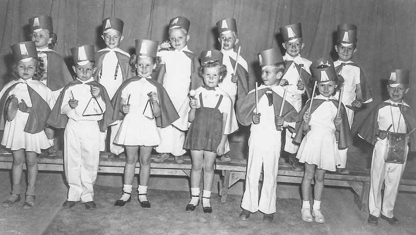 Some of the preschool children living at the site of the former Heart Mountain Relocation Center after World War II — the sons and daughters of Bureau of Reclamation staffers and homesteaders — participated in a rhythm band. Columnist Pat Stuart, who lived at the site with family after World War II, says a 1949 blizzard brought the community closer together.