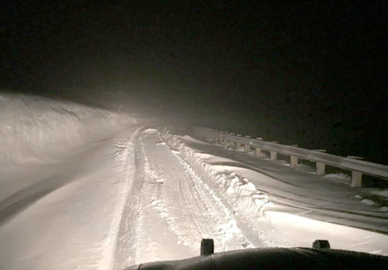 A plow truck from the National Park Service and a trooper with the Wyoming Highway Patrol helped rescue a North Dakota man, who got stuck in a Friday night/Saturday morning blizzard on the Beartooth Highway.