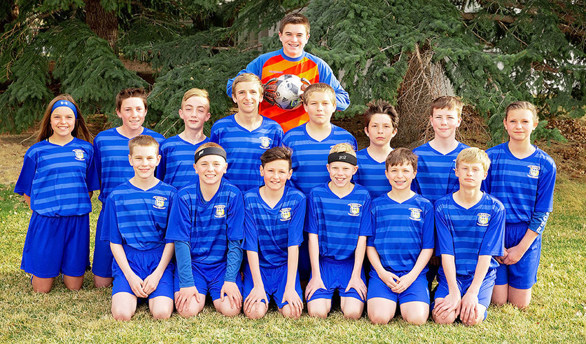 The Heart Mountain 15U soccer team had a successful spring season, highlighted by a second-place finish at the Snickers Cup in Sheridan last month. The team was coached by Brian Orr. Back: Holden Cooper; Middle: Aubree Fisher, Steven Stambaugh, Landon Hernandez, JT Prosser, JR Prosser, Logan Jensen, Trey Wambeke, Jordyn Dearcorn; Front: Andrew Moretti, Jacob Orr, Gunnar Erickson, Will Jackson, Parker Williams, Chance Franks.